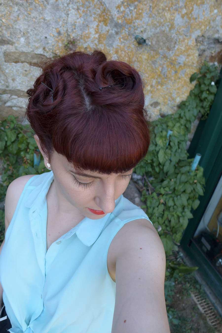 coiffure rétro vintage années 50