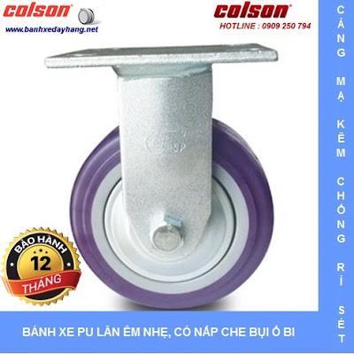 Bánh xe PU lõi PP, bánh xe đẩy chịu tải trọng ( 243 - 370kg/bánh ) www.banhxepu.net