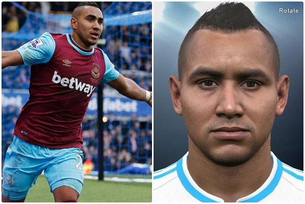 PES 2016 Dimitri Payet (West Ham United) Face by ardarsh95