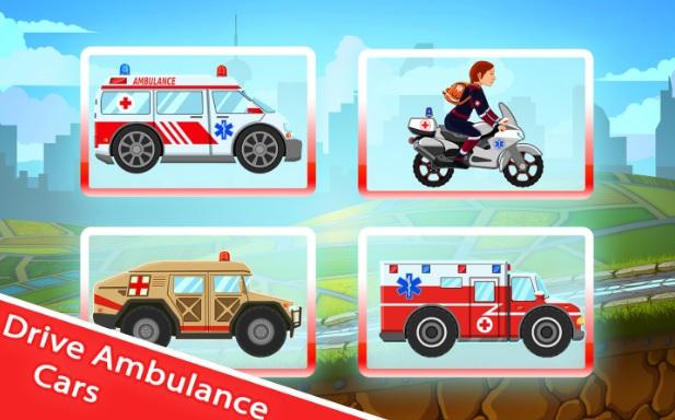 لعبة قيادة سيارة الاسعاف