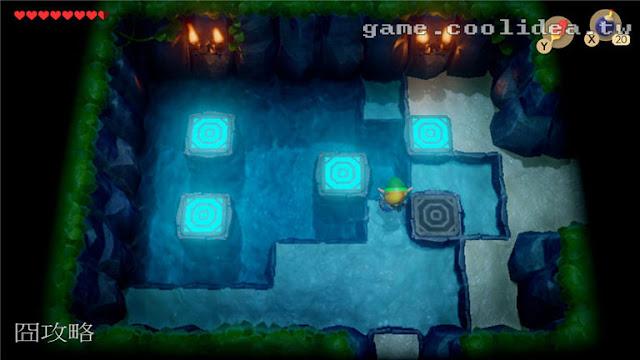 薩爾達 織夢島攻略 燈魚怪瀑布池迷宮14