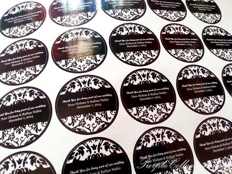 Wedding Door Gift Online Malaysia: Sticker/Label For Wedding Favours/Door Gifts T009
