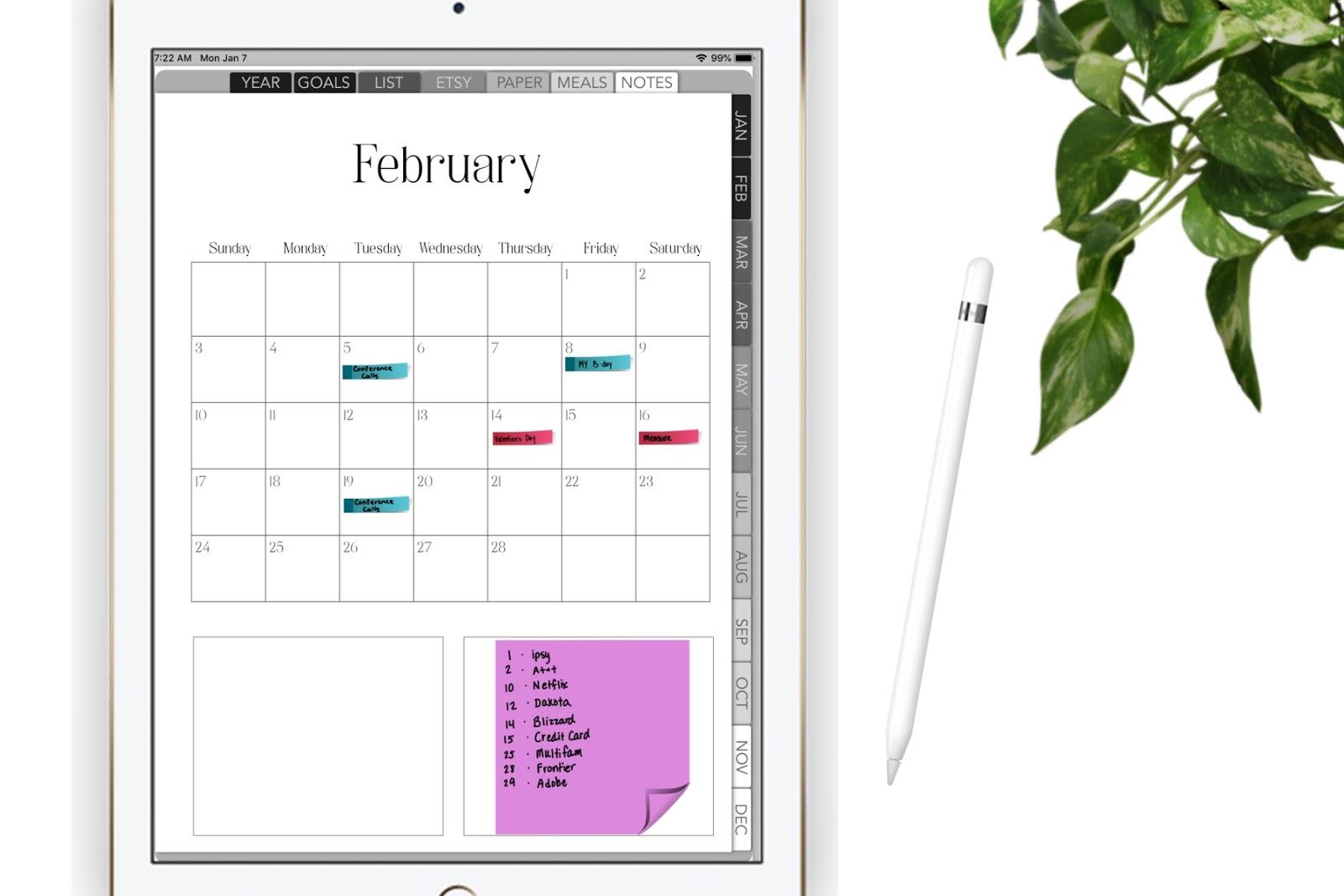 2019 Dated Digital Planner