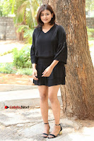 Actress Hebah Patel Stills in Black Mini Dress at Angel Movie Teaser Launch  0093.JPG