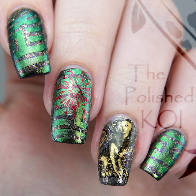 Bee's Knees Lacquer The Maze Harry Potter nail art