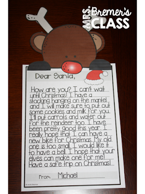 Letters to Santa writing templates, perfect for December writing centers! This fun pack will have your students looking forward to writing time! Pack includes 10 different Letters to Santa writing templates in color and black & white. It also includes 6 page toppers in color and black & white. Perfect for a writing center, Daily 5, or a bulletin board display! K-3 #writingcenter #Christmas #christmaswriting #letterstosanta #kindergartenwriting #1stgradewriting #2ndgradewriting