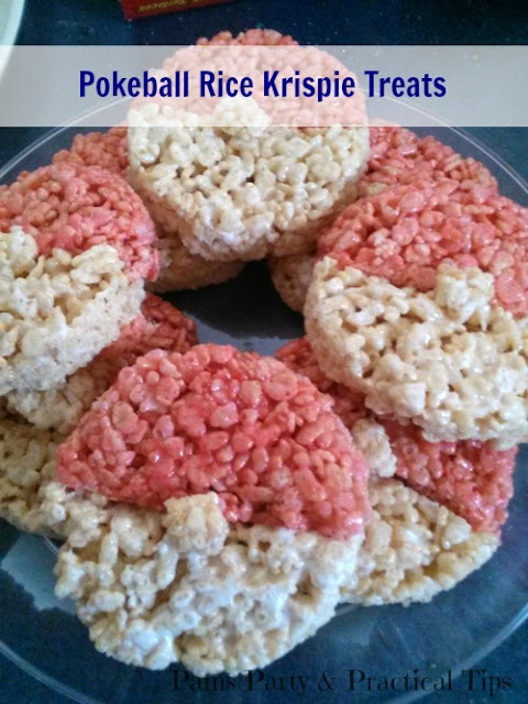 Pokemon Pokeball Rice Krispie Treats