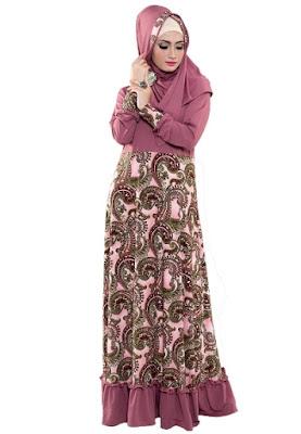 Kreasi baju gamis batik terbaru