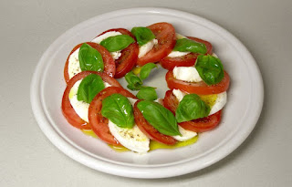 Caprese salad with mozzarella by Rainer Zenz