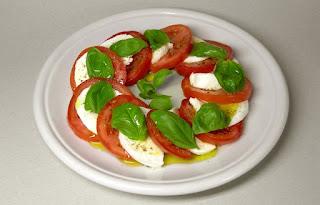 Caprese salad with mozzarella by Rainer Zenz