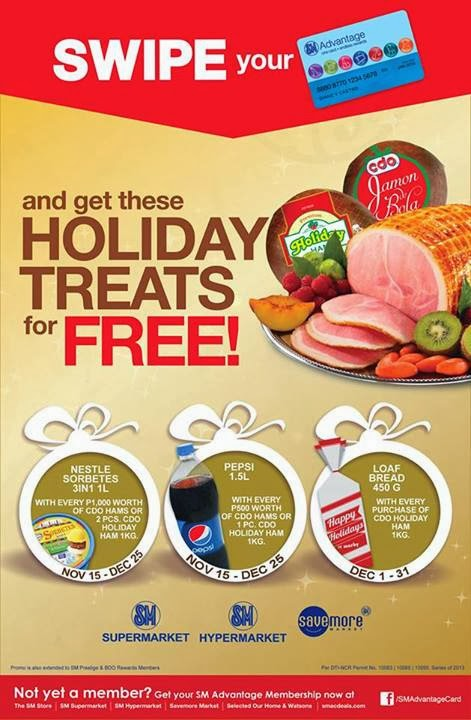 d3cb0424347464 FREE  SM Swipe your Card for a Free Treat at SM Holiday Treat until  December 31 2013