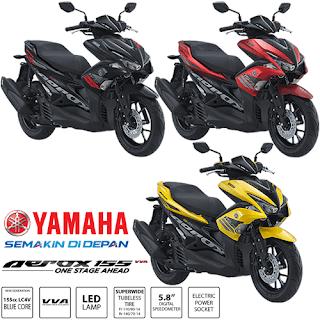 Pilihan Warna Yamaha Aerox 155 VVA