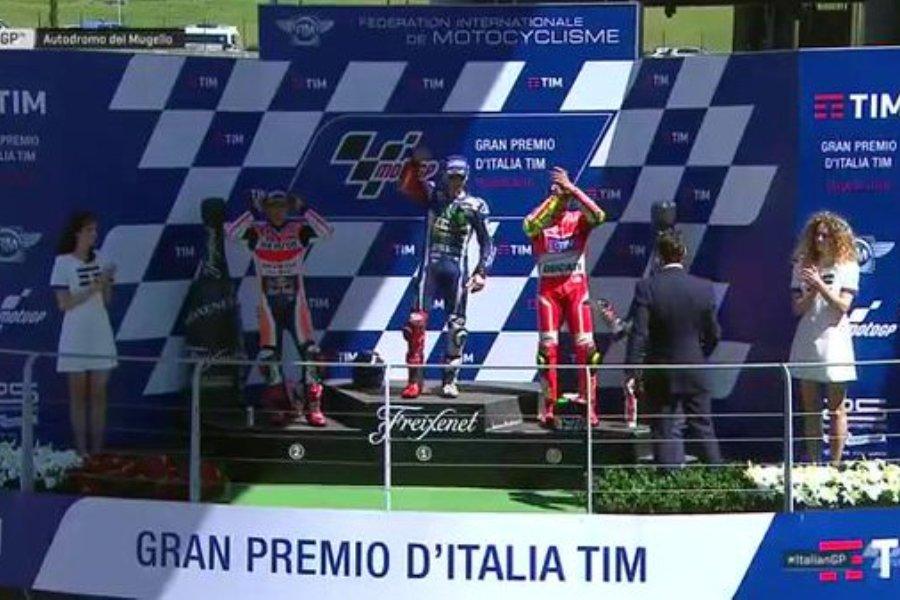 MotoGP 2016 Mugello Italia Podium