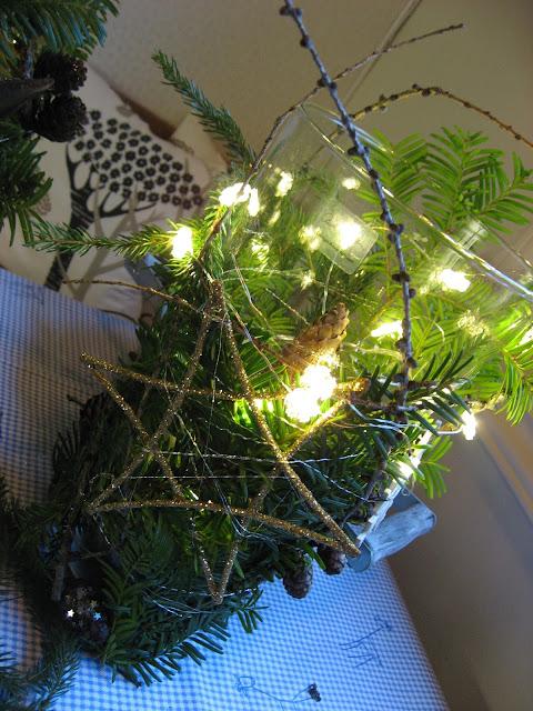 Julelykt med lyslenke oppi