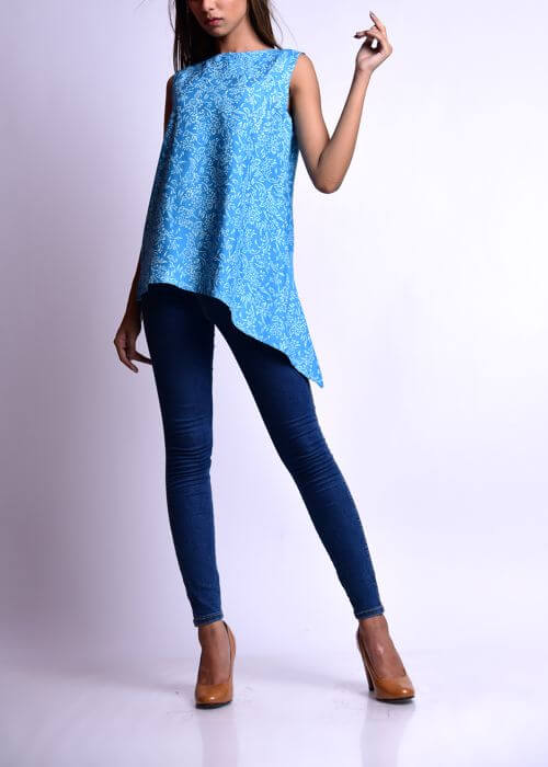 Asymmetric Kurti With Jeans