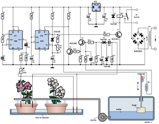 An Electronic Watering Can Circuit Diagram
