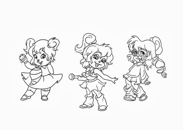 Chipettes coloring pages for kids free coloring pages for Chipettes coloring pages to print