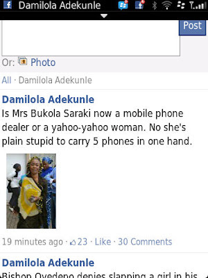 PHOTO Of The Day: Mrs Saraki What Do You Need All Those Phones For? 2