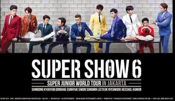 Info Lengkap Harga Tiket Konser Super Junior Super Show 6 Jakarta