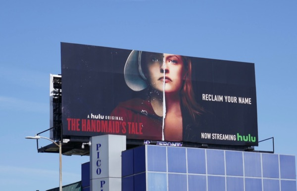 Handmaids Tale season 2 Reclaim your name billboard