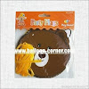 Bunting Banner HAPPY BIRTHDAY Motif Line Brown Bear