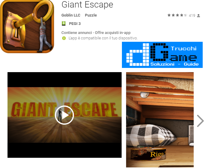 Soluzioni Giant Escape livello 11 12 13 14 15 16 17 18 19 20 | Trucchi e  Walkthrough level