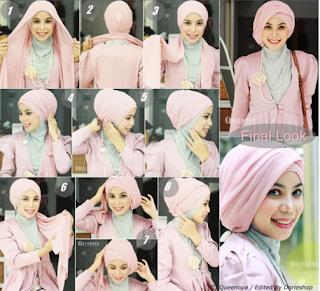 Cara Mudah Memakai Hijab Segi Empat Untuk ke Pesta