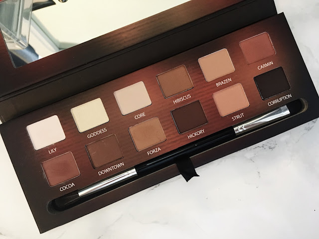 Shadows inside make up palette