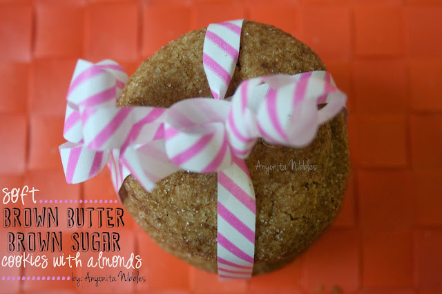 Soft Brown Butter, Brown Sugar Cookies with Almonds from www.anyonita-nibbles.com