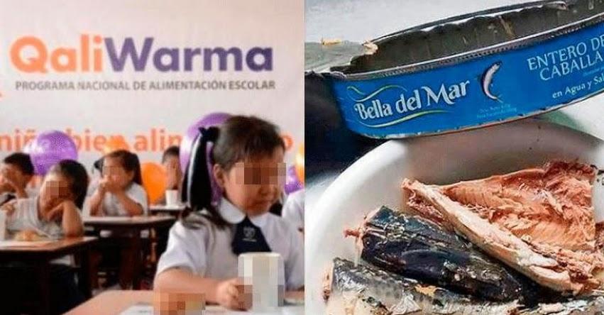 Detectan más conservas de caballa con parásitos entregadas a escolares por programa social Qali Warma
