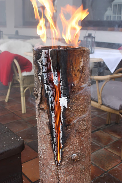 Schwedenfeuer - Winterhochzeit, winter wedding - Empfang auf der Seeterrasse - reception on the lake terrace - Seehaus am Riessersee, Garmisch