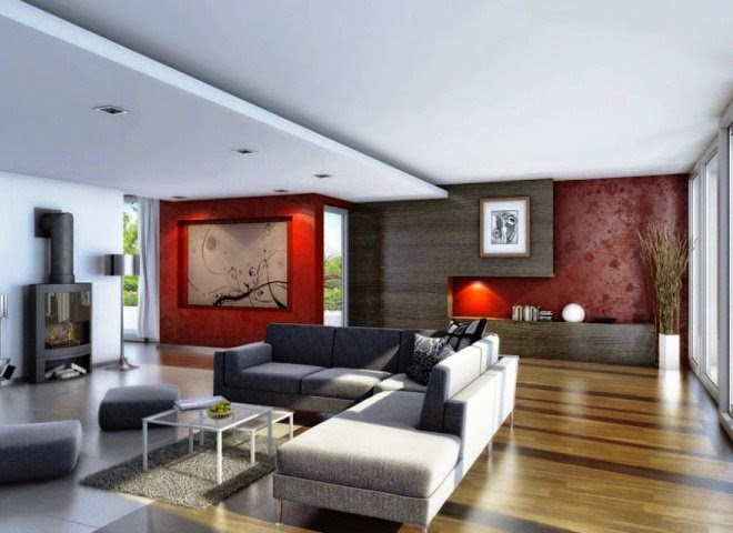 wall paint ideas for living room with wood parquet flooring - Living Room Hardwood Floor Ideas