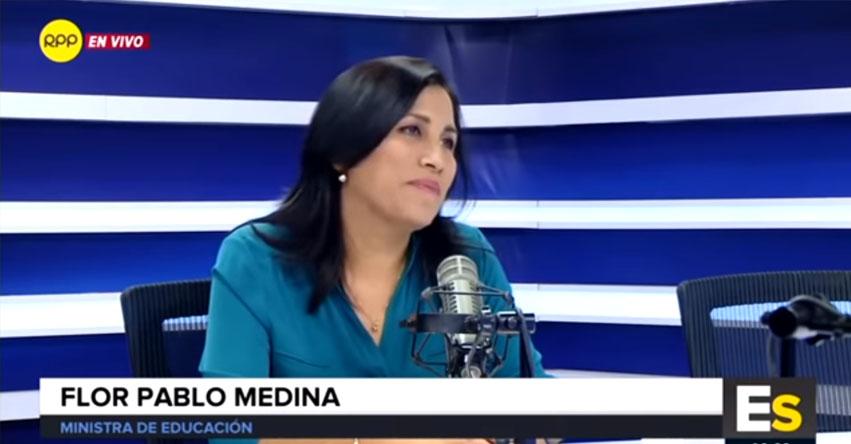 «Cada niño es un plan de aprendizaje único», señaló la ministra de Educación Flor Pablo en entrevista RPP [VIDEO]