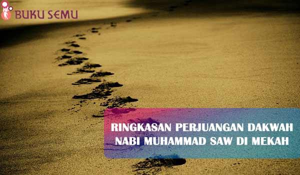 Ringkasan Perjuangan Dakwah Nabi Muhammad SAW di Mekah, bukusemu, aggama islam