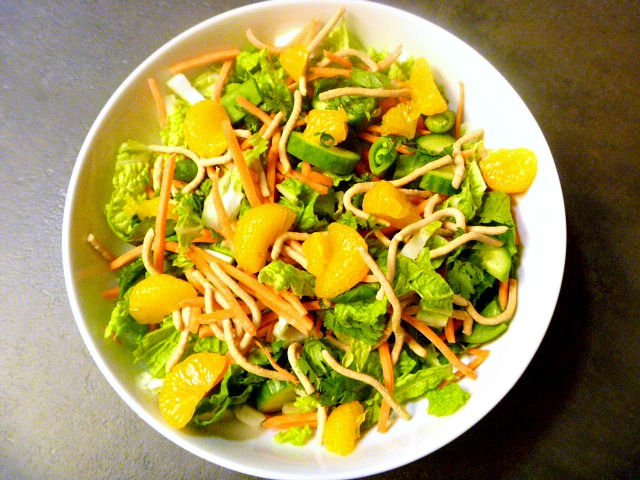 Simple Asian Salad - a great use of Mandarin oranges!  Slice of Southern