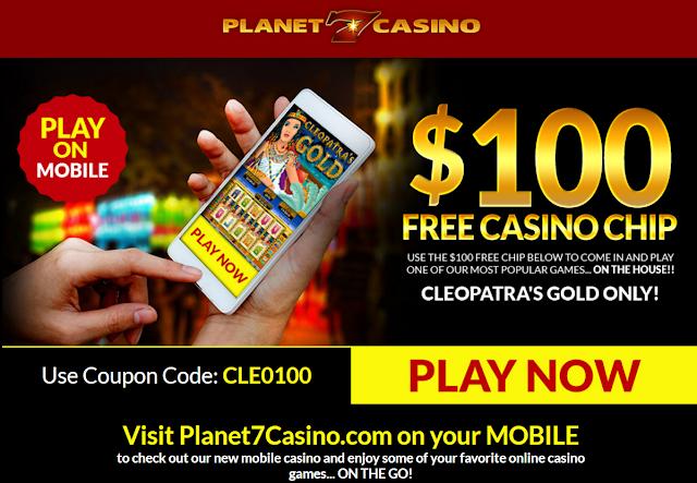 Planet7 Mobile Casino $100 Free