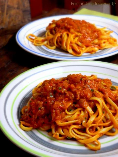 Linguine 'nduja & pomodorini gialli