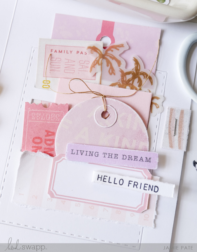 How to Create Slots of Cards with Tim Holtz and Heidi Swapp Old School by Jamie Pate