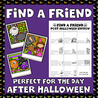 Find a Friend After Halloween Activity