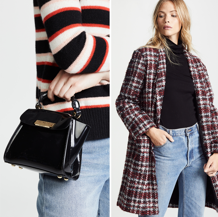 zac zac posen mini bag plaid wool winter jacket