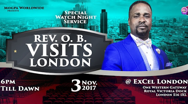 Rev. OB Storms London UK at Excel London, threaten to churches - Mogpa TV & Radio LIVE