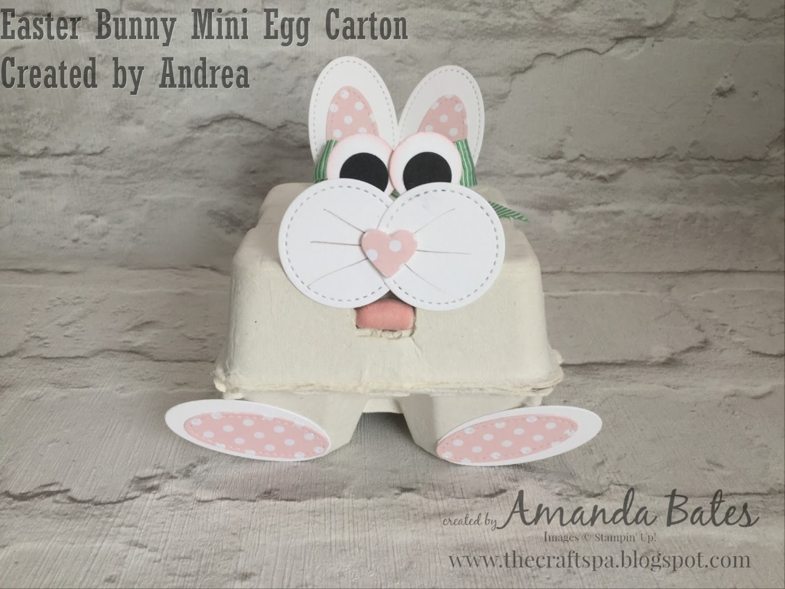 Sitty Uppy Easter Bunny Mini Egg Carton
