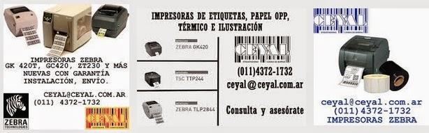 Accesorios Impresora ZEBRA GX420t