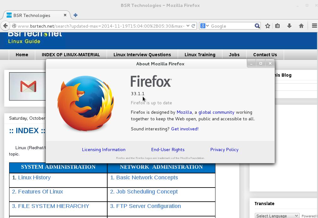 BSR Technologies: Firefox 33.1.1 Installation On Linux