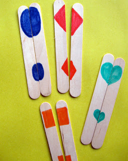 Craft stick shapes activity