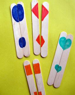Craft stick shapes activity
