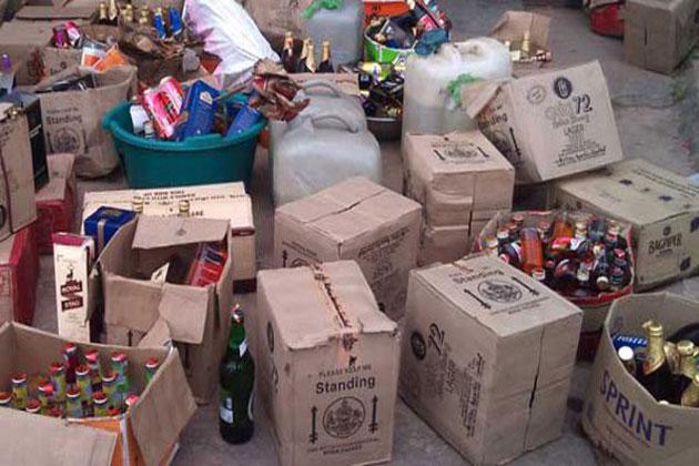 illegal-liquor-of-millions-jhabua-police-लाखो की अवैध शराब के साथ चालक गिरफ्तार
