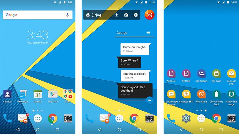 imagenes de blackberry launcher para android