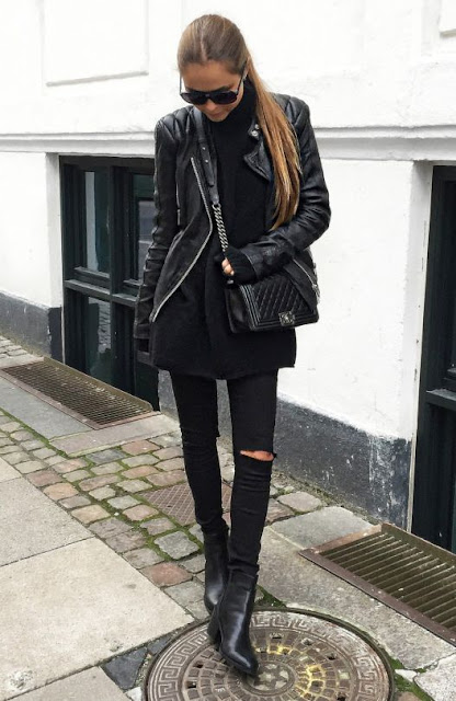 Street Style Edgy Rocker Outfit