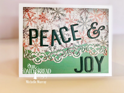 Custom Dies: Peace & Joy, Leafy Edged Borders  Paper Collection: Christmas Collection 2017